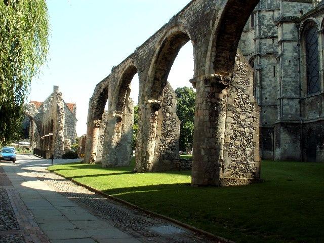 Infirmary Chapel ruins, Canterbury, Kent