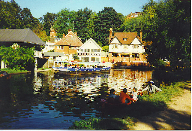 Boating on the River Wey.