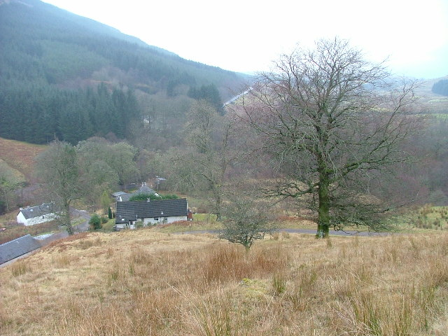 Houses at Lower Glenfintaig