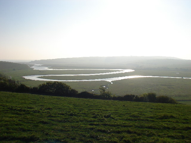 Small tributary entering the Cuckmere