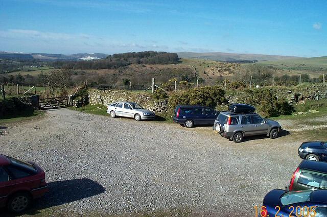 The car park at Harford gate - Dartmoor