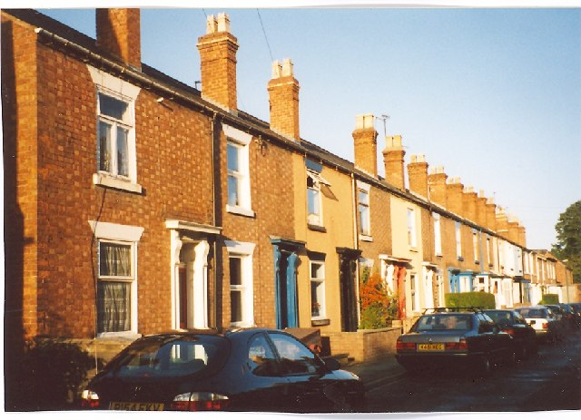 A row of houses in Castle Fields, Shrewsbury