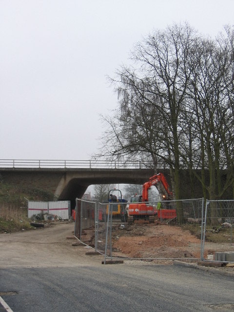 Bus access under A38 Southern Connector Quedgeley