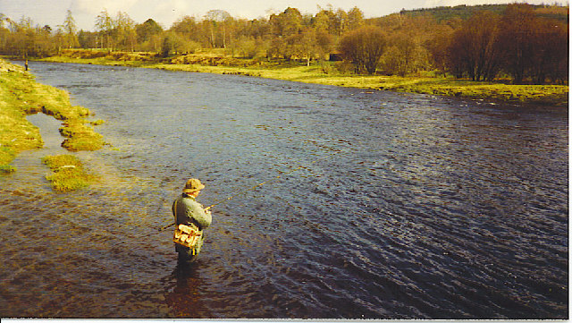 Fishing on the River Dee, Banchory.
