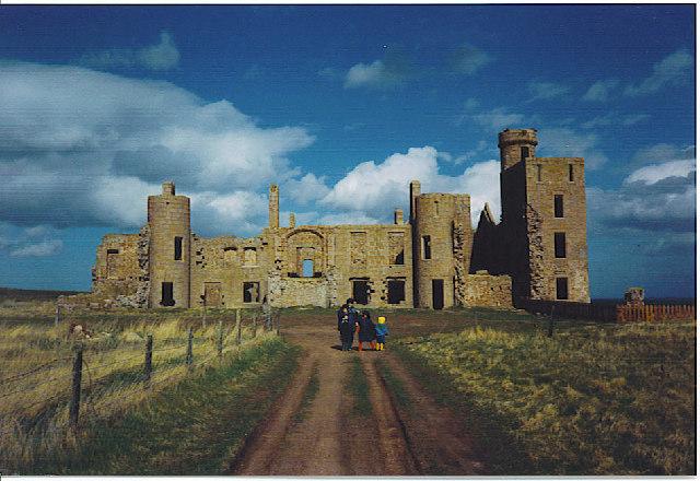 Slains Castle, the Landward (West) Side.
