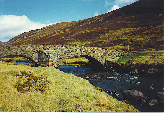 Old Stone Bridge Across the Clunie.