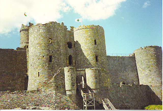 Harlech Castle, Round Towers and Gate.