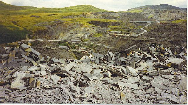 Llechwedd Slate Mine from Gloddfa Ganol