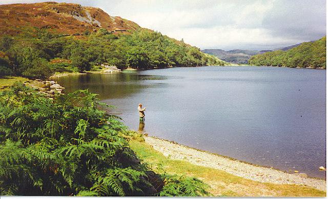 Fishing at Llyn Cynwych.