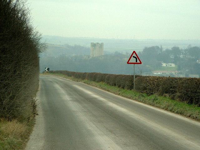 The road to Cadeby Quarry
