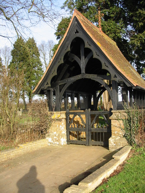 Cemetery lych gate Kings Sutton