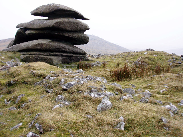 Ring Cairn at Showery Tor