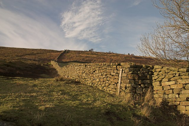 Dry stone wall by Crossley Gate Farm Fryup