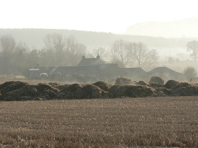 Stubble and composting straw