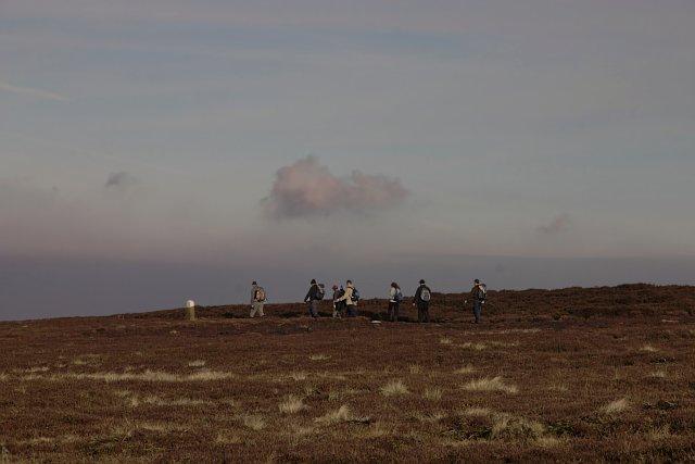 Walkers on the moor
