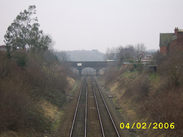 Railway Line And Bridge