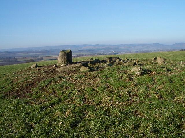 Stone circle near Colen Wood