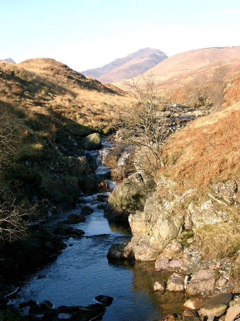 The Allt an Dubh Choirein from the bridge
