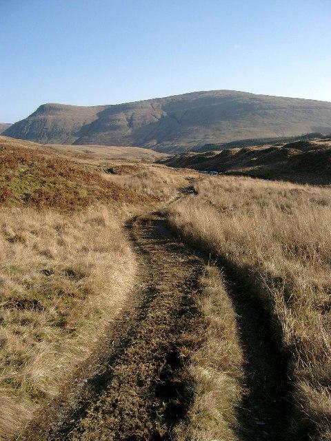 The track in Gleann an Dubh Choirein