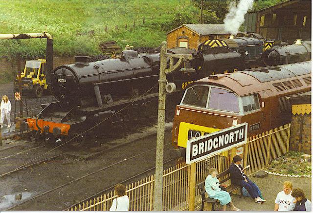 Engines at Bridgnorth Station.