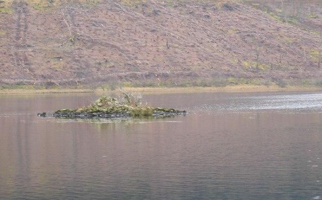 The Crannog in Loch Achaidh na H-Inich