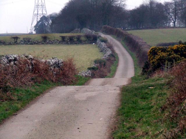Country lane near Caerhun