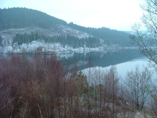 Loch Garry on a wintry morning