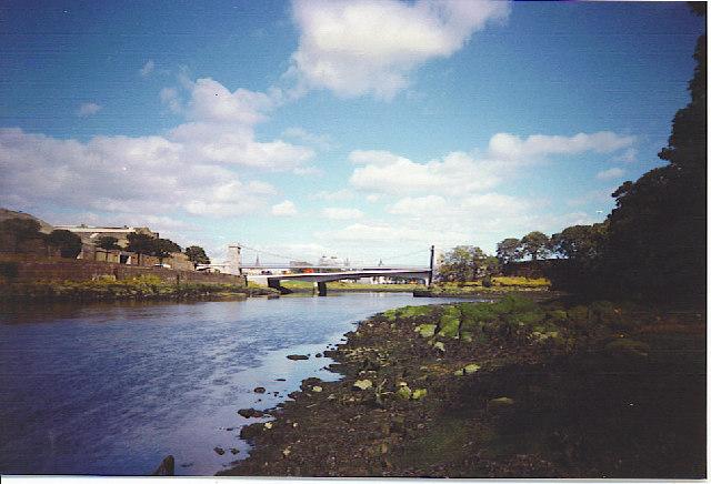 Queen Elizabeth Bridge over the Dee.