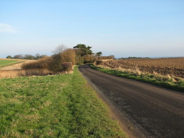 Scoughall Farm road