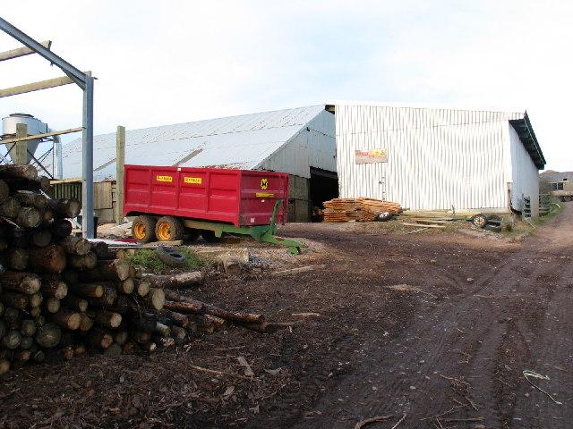 Sawmill buildings and machinery Auchencorvie Farm.