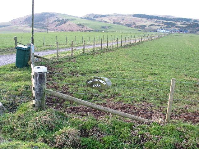 Kilwhipnach Farm entrance near Southend, Kintyre.