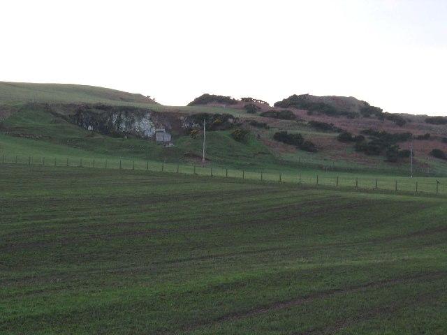 Looking towards Kilkivan Quarry near Machrihanish.