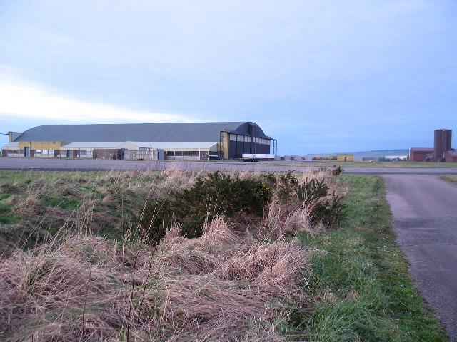 Aircraft hangar at Machrihanish Airfield, Kintyre