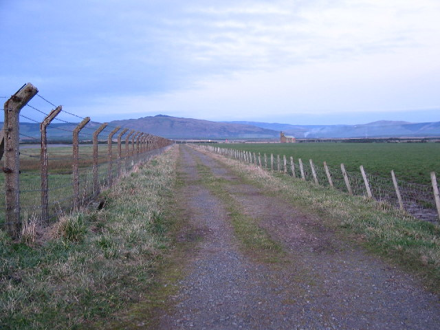 Stretch of perimeter fence Machrihanish Airfield.