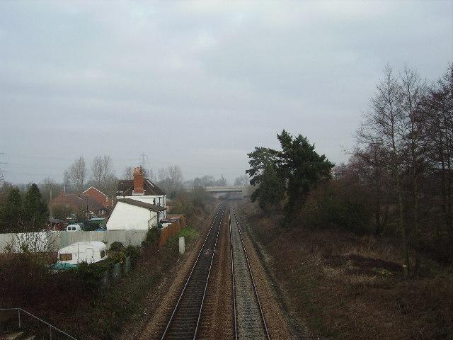 Southampton - Romsey railway line, nr Nursling