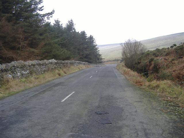 A 27 road, by Cringle plantation, Isle of Man