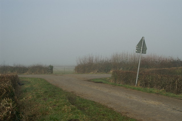 Road Junction on Blackford Moor