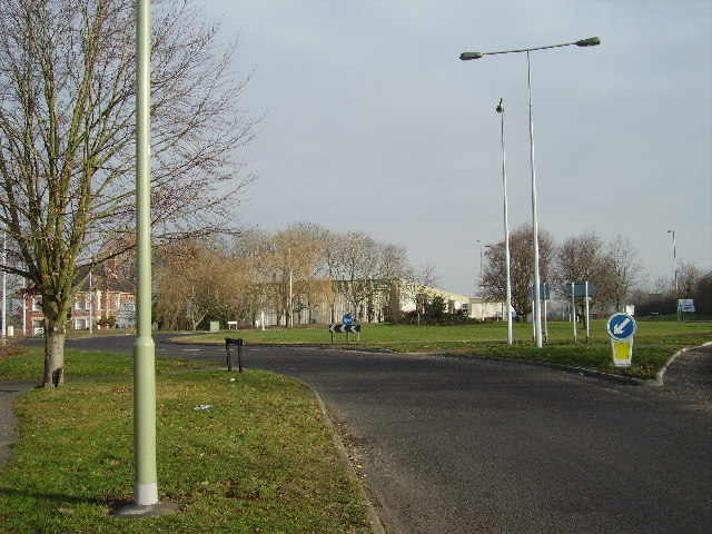 Roundabout near Calmore
