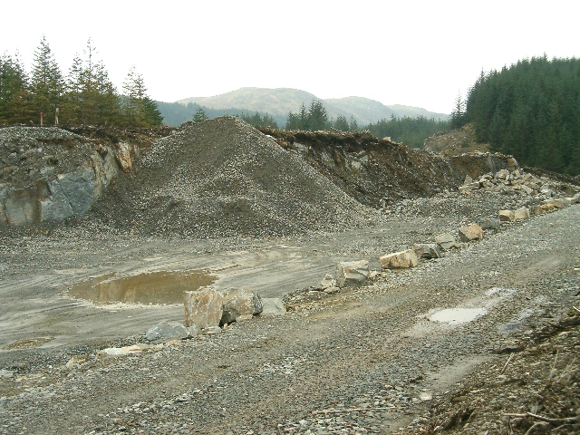 Quarry for forest roads, Eredine Forest