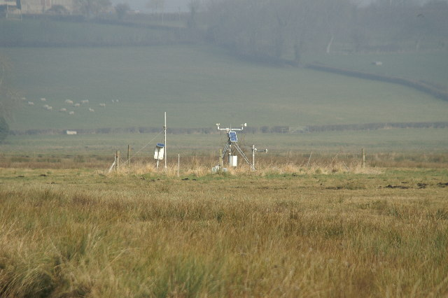 Weather Station on Tealham Moor, South of Heath House