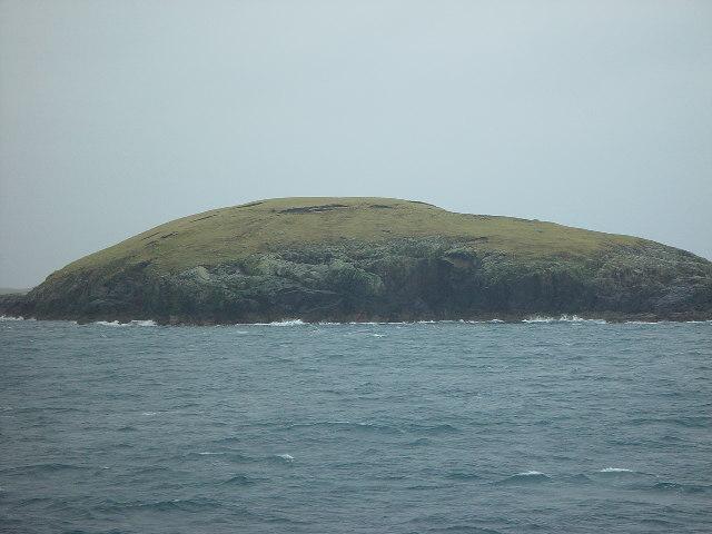 The island of Hunder Holm, Lunning Sound, Shetland