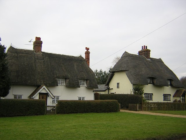 Essex thatched cottages.