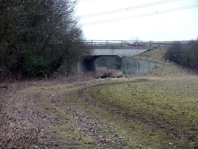Bridleway passes under the A602.
