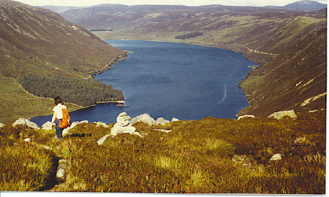 Descending to Loch Muick from Corrie Chash.