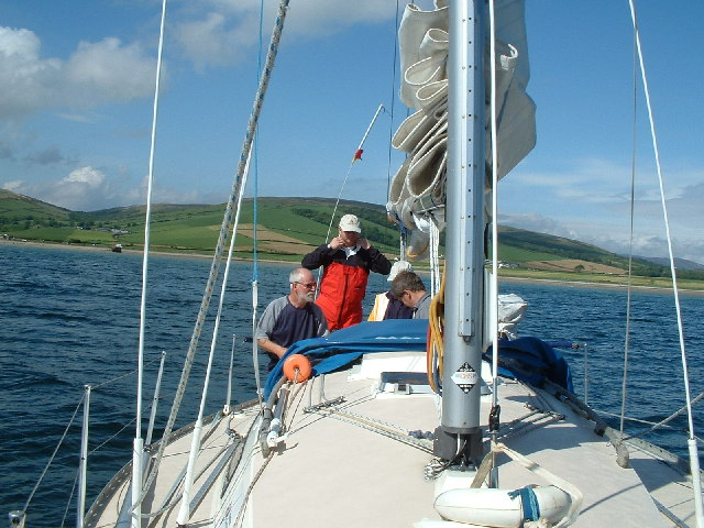 At anchor in Ettrick Bay