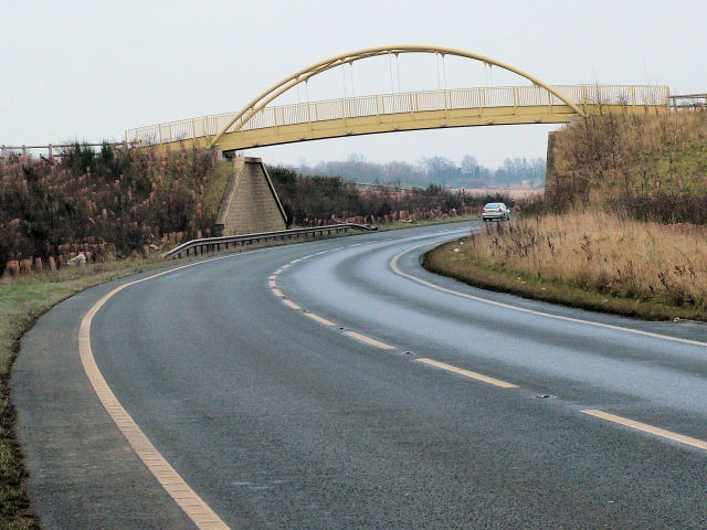 Bridge over A6195