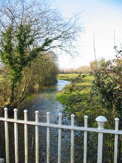 The River Allen at North End Damerham Hampshire