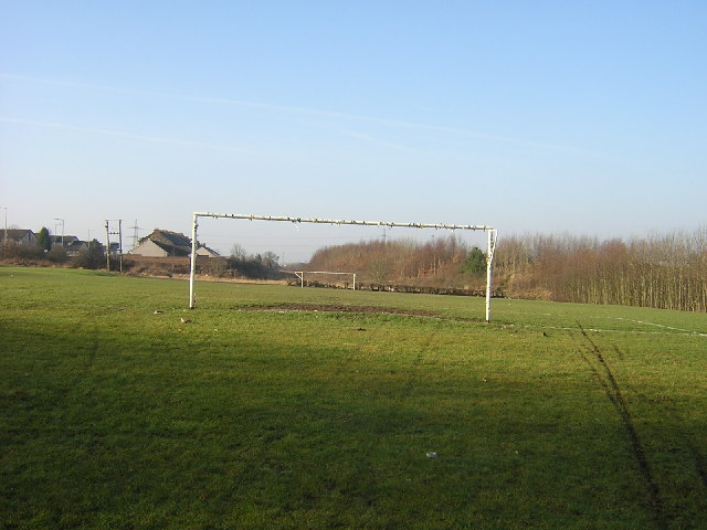 Sloping Football Pitch, Holytown
