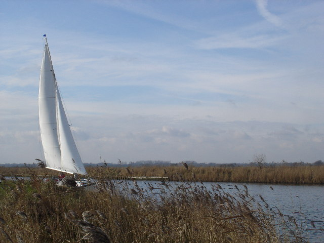 Sailing on the fens