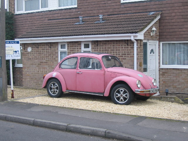Pink Beetle in White Horse Way.